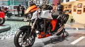 Mahindra Mojo accessories crash guard front quarter at Auto Expo 2016