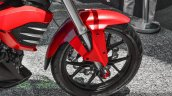 Mahindra Mojo accessories fork sliders at Auto Expo 2016