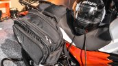 Mahindra Mojo accessories rear bags at Auto Expo 2016