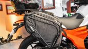 Mahindra Mojo accessories saddle bags at Auto Expo 2016