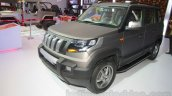 Mahindra TUV300 Endurance edition front three quarters at the Auto Expo