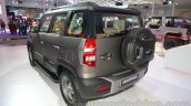 Mahindra TUV300 Endurance edition rear three quarters at the Auto Expo