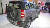 Mahindra TUV300 Endurance edition rear three quarters left at the Auto Expo