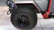 Mahindra Thar custom tyre at Auto Expo 2016