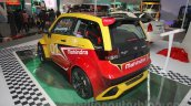 Mahindra e2o Sports rear three quarter at Auto Expo 2016