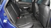 Maruti Baleno RS rear seats at the Auto Expo 2016