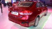 Maruti Ciaz accessorized rear three quarters right at Auto Expo 2016
