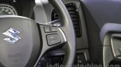 Maruti Vitara Brezza cruise control switches at the 2016 Auto Expo