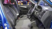Maruti Vitara Brezza front seats at the 2016 Auto Expo