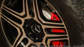 Mercedes G 500 4×4² wheel badge at Auto Expo 2016