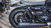 Moto Guzzi V9 Bobber exhaust at Auto Expo 2016