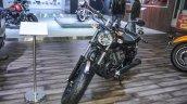 Moto Guzzi V9 Bobber front at Auto Expo 2016