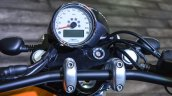 Moto Guzzi V9 Bobber instrument console at Auto Expo 2016