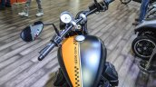Moto Guzzi V9 Bobber rider view at Auto Expo 2016