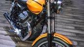 Moto Guzzi V9 Roamer alloy wheel at Auto Expo 2016