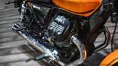 Moto Guzzi V9 Roamer engine at Auto Expo 2016