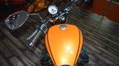Moto Guzzi V9 Roamer rider view at Auto Expo 2016