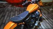 Moto Guzzi V9 Roamer seat at Auto Expo 2016