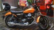 Moto Guzzi V9 Roamer side at Auto Expo 2016