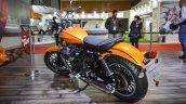 Moto Guzzi V9 Roamer yellow orange at Auto Expo 2016