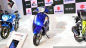 New Suzuki Access 125 Blue front at Auto Expo 2016