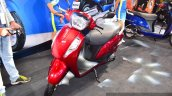 New Suzuki Access 125 Red front three quarters at Auto Expo 2016