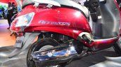 New Suzuki Access 125 engine exhaust at Auto Expo 2016