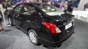 Nissan Sunny Sportech rear left three quarter at 2016 Auto Expo