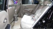 Nissan Sunny Sportech rear seat at 2016 Auto Expo