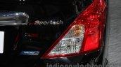 Nissan Sunny Sportech taillamp at 2016 Auto Expo