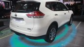 Nissan X-Trail Hybrid rear three quarters right at Auto Expo 2016