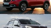 Peugeot 2008 exterior old vs. new