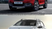 Peugeot 2008 front three quarters old vs. new