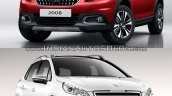 Peugeot 2008 front three quarters second image old vs. new