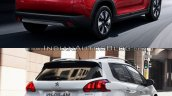 Peugeot 2008 rear three quarters second image old vs. new