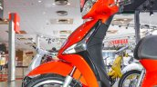 Piaggio Liberty IGET 125 ABS front disc brake at Auto Expo 2016