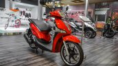 Piaggio Liberty IGET 125 ABS front quarter at Auto Expo 2016
