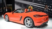 Porsche 718 Boxster S rear three quarter at the Geneva Motor Show Live
