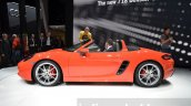 Porsche 718 Boxster S side at the Geneva Motor Show Live