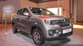 Renault Kwid 1.0 AMT front quarter at the Auto Expo 2016