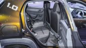 Renault Kwid 1.0 rear seats at the Auto Expo 2016