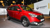 Renault Lodgy World Edition front three quarter at the Auto Expo 2016