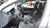 Skoda Octavia RS 4X4 front cabin at the 2016 Geneva Motor Show Live