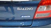 Suzuki Baleno 1.2 SHVS Baleno badge at 2016 Geneva Motor Show