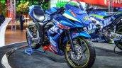 Suzuki Gixxer Cup race bike front quarter at Auto Expo 2016