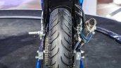 Suzuki Gixxer Cup race bike rear tyre at Auto Expo 2016