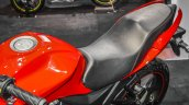 Suzuki Gixxer SF Candy Antares Red seat at Auto Expo 2016