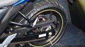 Suzuki Gixxer SF-Fi with rear disc brake drive chain at Auto Expo 2016