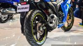 Suzuki Gixxer SF-Fi with rear disc brake rear at Auto Expo 2016