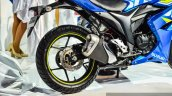 Suzuki Gixxer SF-Fi with rear disc brake rear wheel at Auto Expo 2016